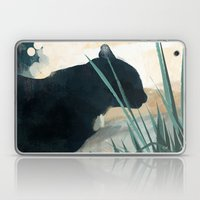 Skelly Cat In The Grass Laptop & iPad Skin