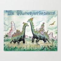 Photosynthesaurs Canvas Print