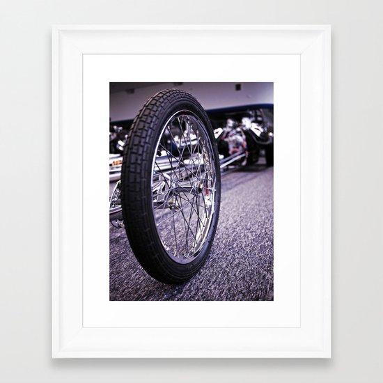 Drag racer wheel Framed Art Print