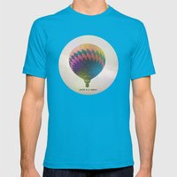 Lets Fly Away Mens Fitted Tee Teal SMALL