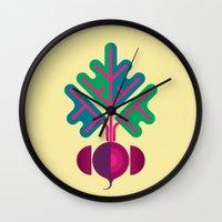 Vegetable: Beetroot Wall Clock