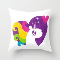 Unicorns are Real! Throw Pillow