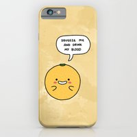 iPhone & iPod Case featuring Blood Orange by SAFELY ENDANGERED