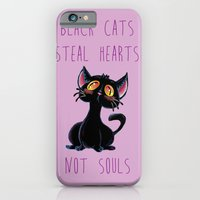 Black Cats Steal Hearts not Souls iPhone 6 Slim Case