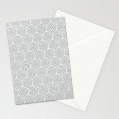 Icosahedron Soft Grey Stationery Cards