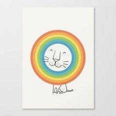 A Happy Lion Canvas Print