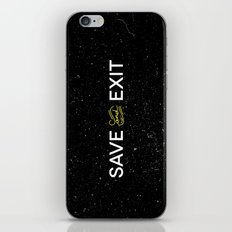 Save and Exit iPhone & iPod Skin