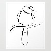 Ink Bird Art Print