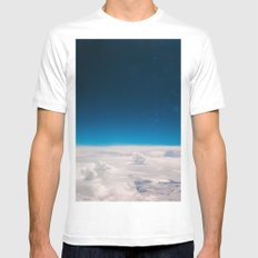 Blue and White at the sky Mens Fitted Tee White SMALL