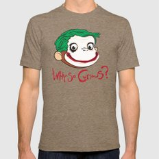 Why So Curious? Mens Fitted Tee Tri-Coffee SMALL