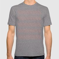 Flowers Coral Mens Fitted Tee Tri-Grey SMALL