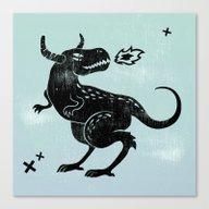 Fire Monster Canvas Print