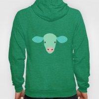 Cow-mor turquoise Hoody