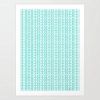 Aqua Dot Art Print