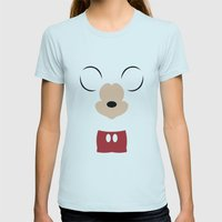 Disney - Mickey Mouse Womens Fitted Tee Light Blue SMALL