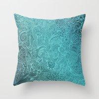 Detailed Zentangle Squar… Throw Pillow