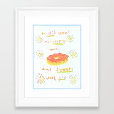 donuts 4 u Framed Art Print