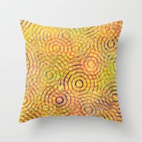 Rainbow Drizzle Throw Pillow