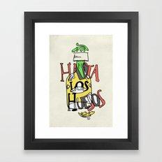 Hasta los Huesos Framed Art Print