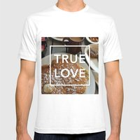 True Love: Breakfast Mens Fitted Tee White SMALL