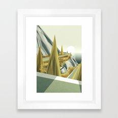 Oceanside mountain road Framed Art Print