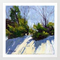 Shadows in the Snow Art Print