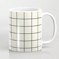 simple grid Mug