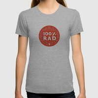 100% Rad Womens Fitted Tee Athletic Grey SMALL