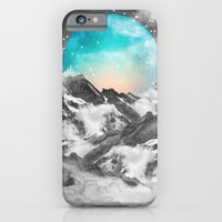 mountains iPhone & iPod Cases featuring It Seemed To Chase the Darkness Away (Guardian Moon) by soaring anchor designs