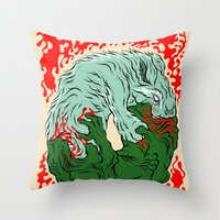 Beast Feast Throw Pillow
