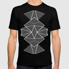 Ab Zoom Mirror Black SMALL Mens Fitted Tee Black