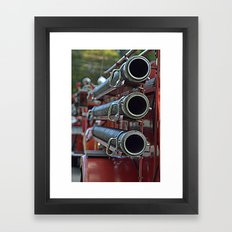 Vintage Fire Truck Framed Art Print