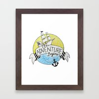 The Adventure Begins Framed Art Print