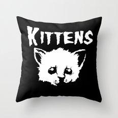 Goth Kittens Throw Pillow