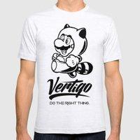 VERTIGO - MARIO TANOOKI Mens Fitted Tee Ash Grey SMALL