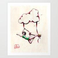 Flying Trapeze Art Print