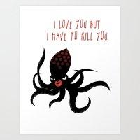 Squid Fatale Art Print