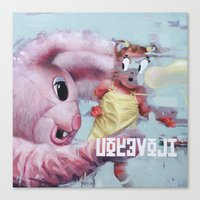 Canvas Print featuring little Alice catched by her dream by Vanessa Dakinsky