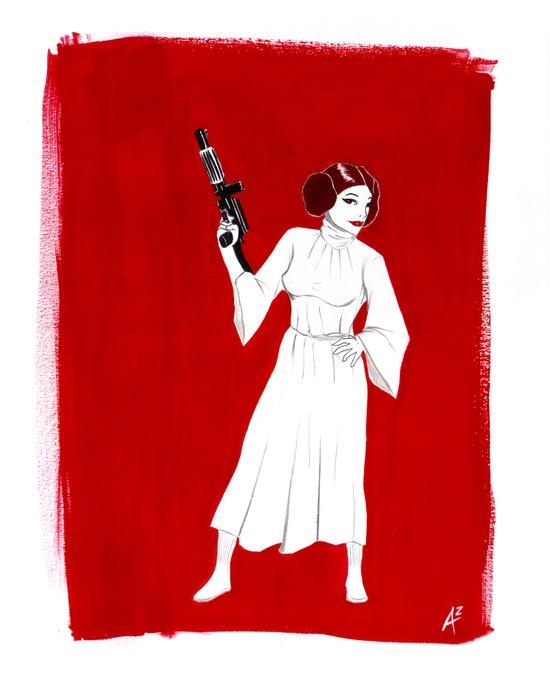 Rebel Girl Art Print