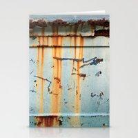 Rust Streaks on Aqua Stationery Cards