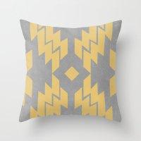 Concrete & Aztec Throw Pillow