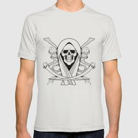 Death Mens Fitted Tee Silver SMALL