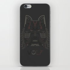 Wolf line illustration iPhone & iPod Skin