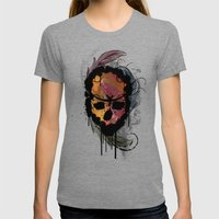 Destroyed Womens Fitted Tee Tri-Grey SMALL
