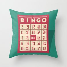 Bingo! Throw Pillow