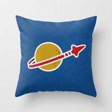 Blue Spaceman Throw Pillow