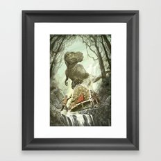 Cretaceous Conundrum Framed Art Print