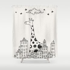 Lost in City Shower Curtain