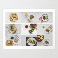 Morning stories - AVOCADO set Art Print