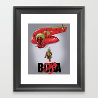 BobAkira (red) Framed Art Print